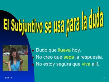 Spanish Subjunctive No-Prep Lesson Plans and Curriculum