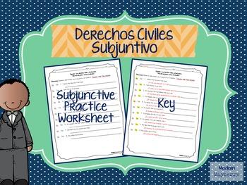 Spanish Subjunctive Practice Translation Worksheet (Españo