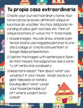 Spanish Subjunctive Project and Most Extraordinary Homes Movie Guide