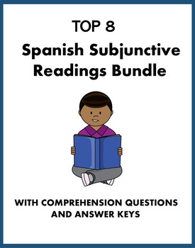 Spanish Subjunctive Reading Bundle: All Types! 8 Lecturas @40%off! (subjuntivo)