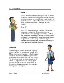Spanish Subjunctive Fun Reading - El novio ideal Lectura en Subjuntivo