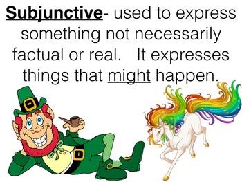 Spanish Subjunctive- Regular Present Subjunctive Keynote Slideshow