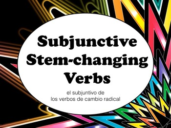 Spanish Subjunctive Stem-changing Verbs Keynote Slideshow
