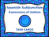Spanish Subjunctive Volition Expressions Task Cards