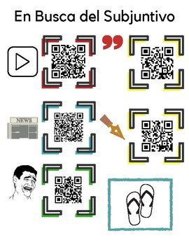 Spanish Subjunctive Webquest with QR Codes