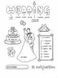 Spanish Subjunctive Wedding Acronym color by category fun worksheet no prep