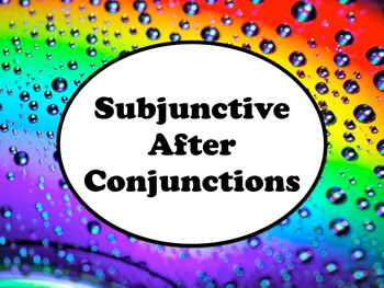 Spanish Subjunctive after Conjunctions Keynote Slideshow for Mac