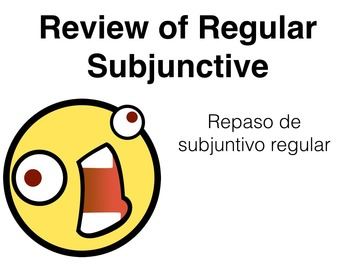 Spanish Subjunctive after Impersonal Expression Keynote Slideshow Presentation