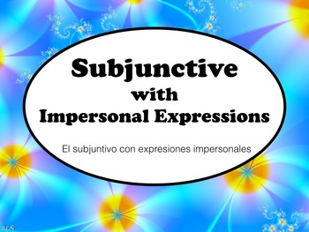 Spanish Subjunctive after Impersonal Expressions PowerPoin