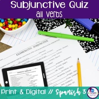 Spanish Subjunctive all verbs Quiz