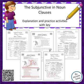 spanish subjunctive in noun clauses explanation and worksheets. Black Bedroom Furniture Sets. Home Design Ideas