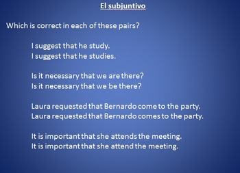 Spanish Subjunctive intro PowerPoint - subjunctive notes and practice!