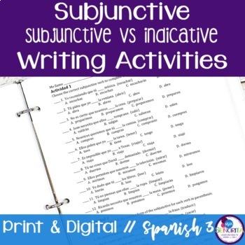 Spanish Subjunctive vs Indicative Writing Exercises