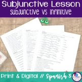 Spanish Subjunctive vs Infinitive Lesson