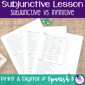 Spanish Subjunctive vs Infinitive Lesson