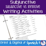 Spanish Subjunctive vs Infinitive Writing Exercises
