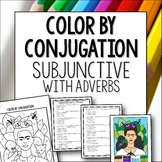 Spanish Subjunctive with Adverbs color by conjugation activity lesson worksheet