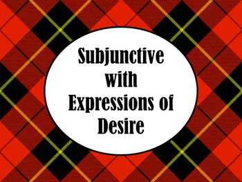 Spanish Subjunctive with Expressions of Desire PowerPoint Slideshow