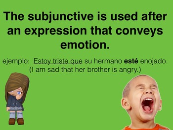 Spanish Subjunctive with Expressions of Emotion PowerPoint Slideshow