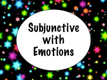 Spanish Subjunctive with Expressions of Emotion PowerPoint
