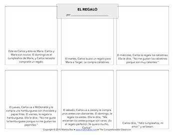 Spanish Substitute Activities Bundle #6: Storyboards for Spanish 1+