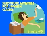 Spanish Substitute Activities Bundle #5: Storyboards for Spanish 2