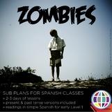 Spanish Sub plans - Zombies