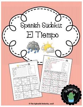Spanish Sudoku: El Tiempo (Weather Terms)