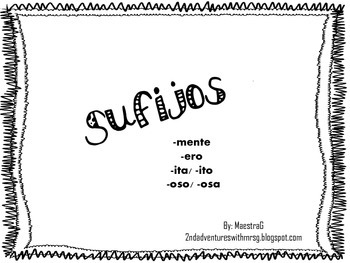 Spanish Suffixes FREEBIE
