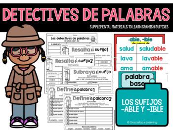 Spanish Suffixes - La policía de palabras - los sufijos -able, -ible