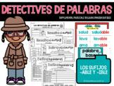 Spanish Suffixes - La policía de palabras - los sufijos -a