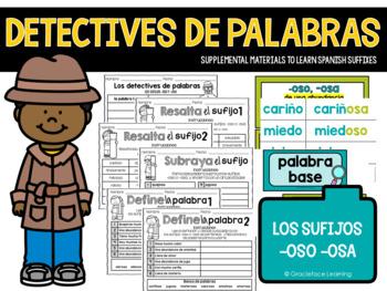 Spanish Suffixes - La policía de palabras - los sufijos -oso, -osa