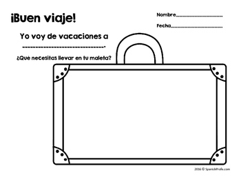 Spanish Suitcase and Clothing Activities (Actividades: equipaje, ropa y viajes)