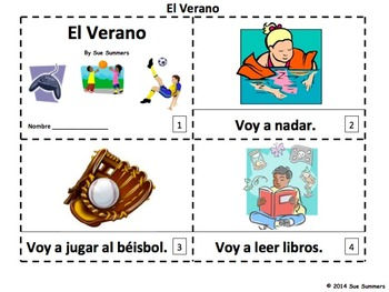 Spanish Summer 2 Emergent Reader Booklets - El Verano