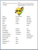 Spanish - Summer Activities Vocabulary Sheet