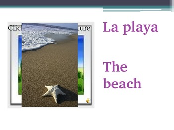 Spanish - Summer Activities and Vocabulary PowerPoint