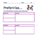Spanish Summer Activity- Conditional Tense