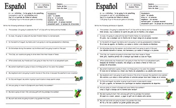 Spanish Summer Bundle - Puzzles, Skit, Sentences, Writing Prompt, and Sketch