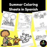 Spanish Summer Coloring Sheets (Verano hojas de colorear)