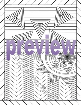 Spanish Summer/End of Year Cards BUNDLE- Adult Coloring Page