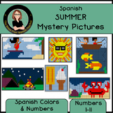 Spanish Color By Number Mystery Pictures! Summer / Grid