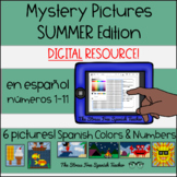 Digital Mystery Pictures Spanish Summer / Color By Number / Grid
