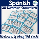 Spanish Summer Question Task Cards