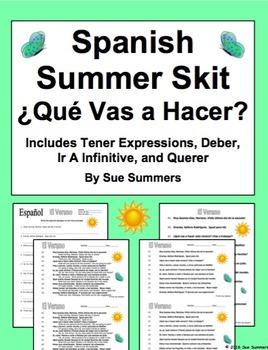 Spanish Summer Skit / Speaking Activity ¿Qué Vas a Hacer?