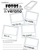Spanish Summer Vacation Activity - No prep - Printable - Beginning of Year