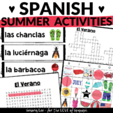 Spanish Summer Activities - Bundle of 4 Resources for the End of the Year