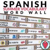 Spanish Summer Vocabulary - Spanish Word Wall