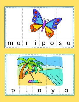 Spanish Summer Word Puzzles