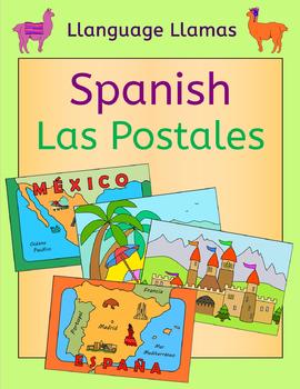 Spanish Summer vacation - write a postcard - tarjetas postales