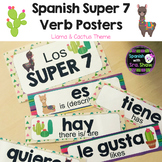 Spanish Super 7 Posters: Llama & Cactus Themed